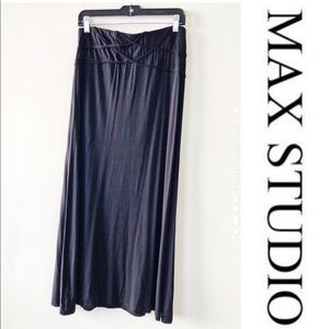 NWT MAX STUDIO black maxi skirt